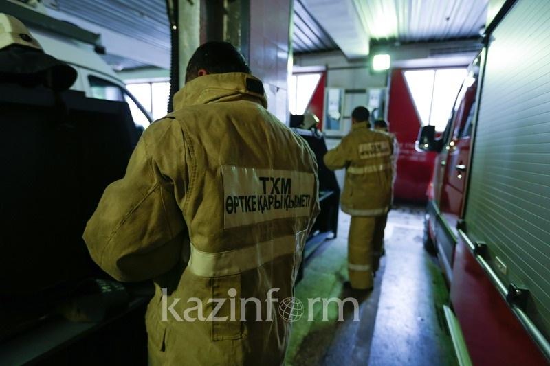 Пожар наСТО вАлматы: сгорело 5  авто