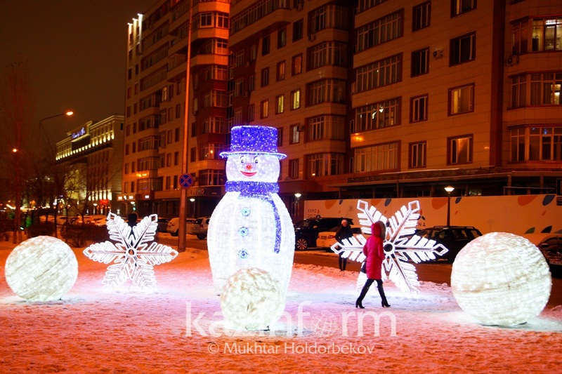 Astana at New Year time 2017