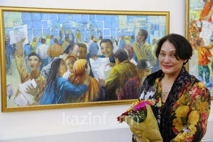 Яркие живописные полотна Ларисы Жанпеисовой представлены в Астане