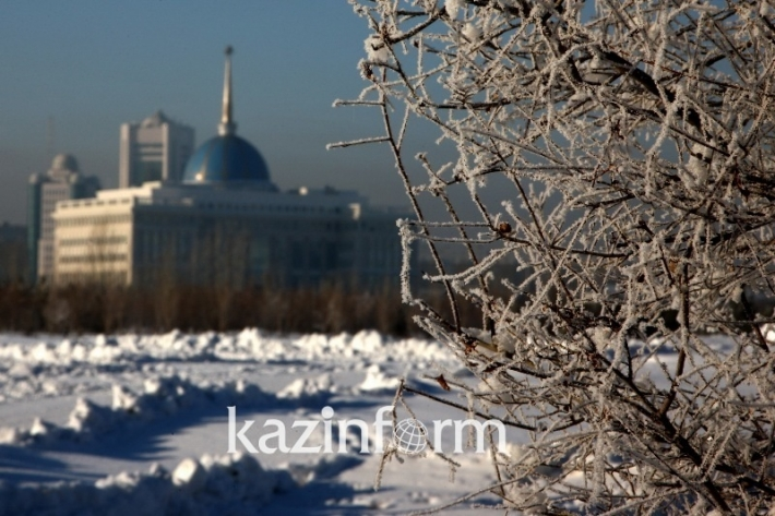 Winter scenery of Astana