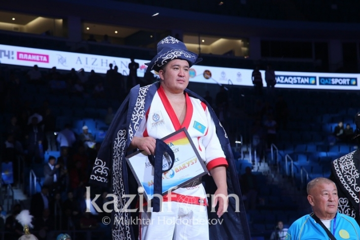 Kazakh kures world cup ends in Astana