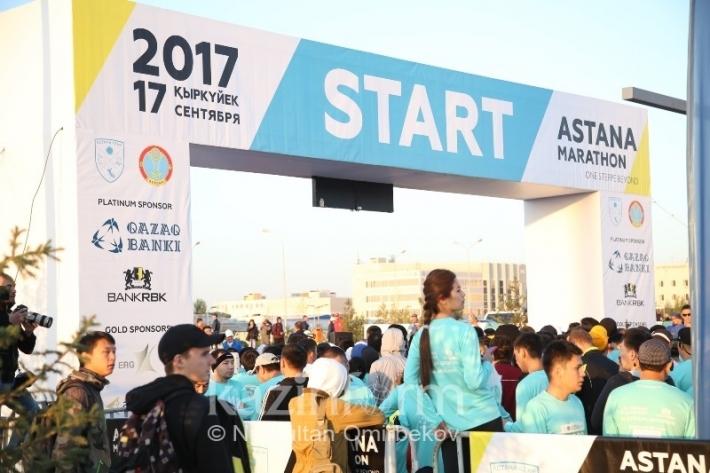 В Astana Marathon-2017 приняли участие более 4,5 тыс. человек