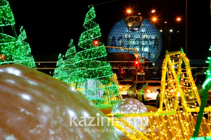 Astana and Almaty get winter wonderland makeover ahead of New Year