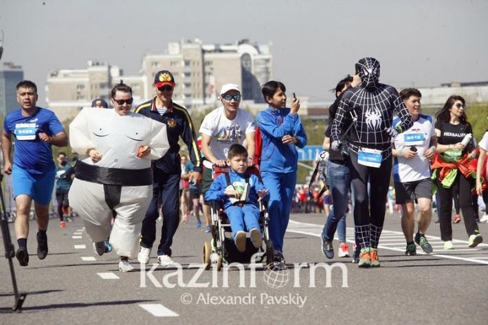 14 тысяч человек пробежали  «Алматы марафон»