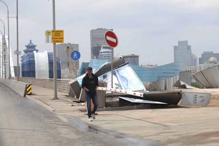 Seysenbіde Astanada küştі jel turıp, nöser jawdı
