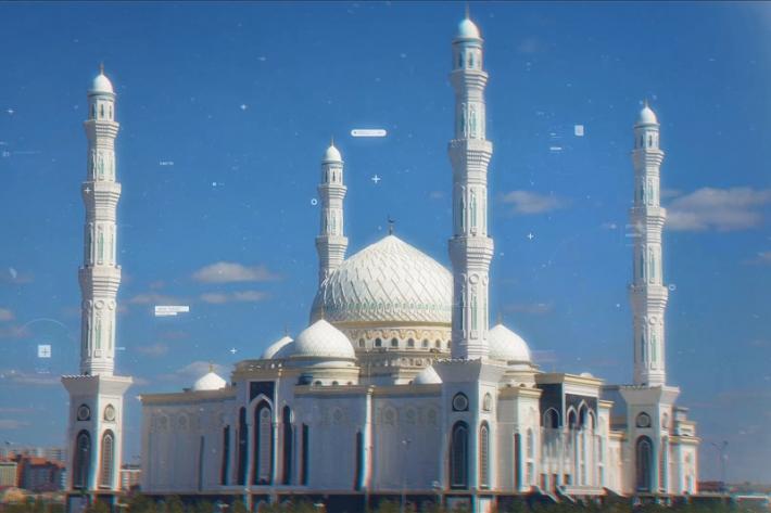 """""""哈兹列特苏丹清真寺""""-- 哈萨克斯坦最美的清真寺"""