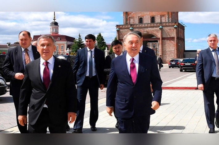 How Nursultan Nazarbayev was greeted in Tatarstan