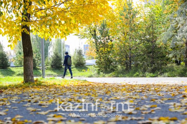 Autumn paints Astana red, orange and yellow