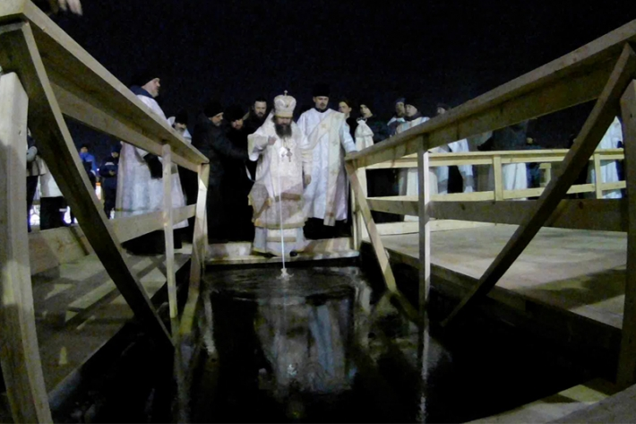 Крещенские купания на реке Есиль