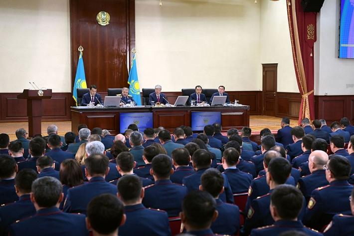 Расширенное заседание коллегии МВД РК с участием Главы государства