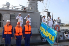 1st friendship flotilla from Kazakhstan docks in Iranian port