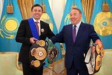 Nursultan Nazarbayev to Golovkin: You're great ambassador of Kazakhstan