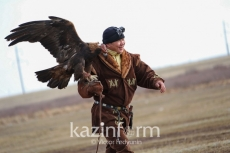 International eagle hunter tournament underway in Astana