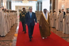 Kazakh President Kassym-Jomart Tokayev arrives in the UAE