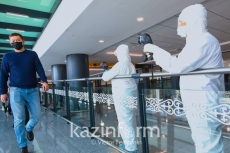 Arriving passengers screened at Nur-Sultan airport
